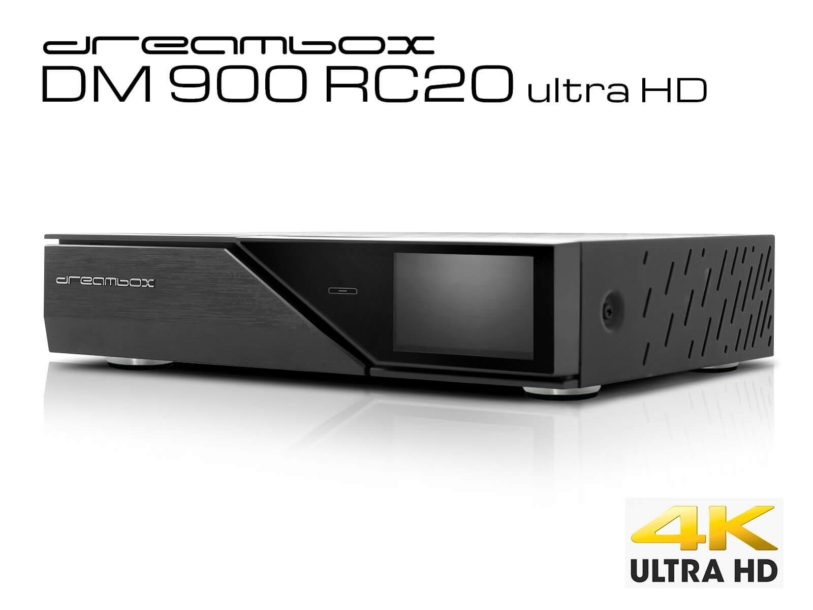 TV box: Dreambox DM900 RC20 4K UHD - new version with 8 GB flashram