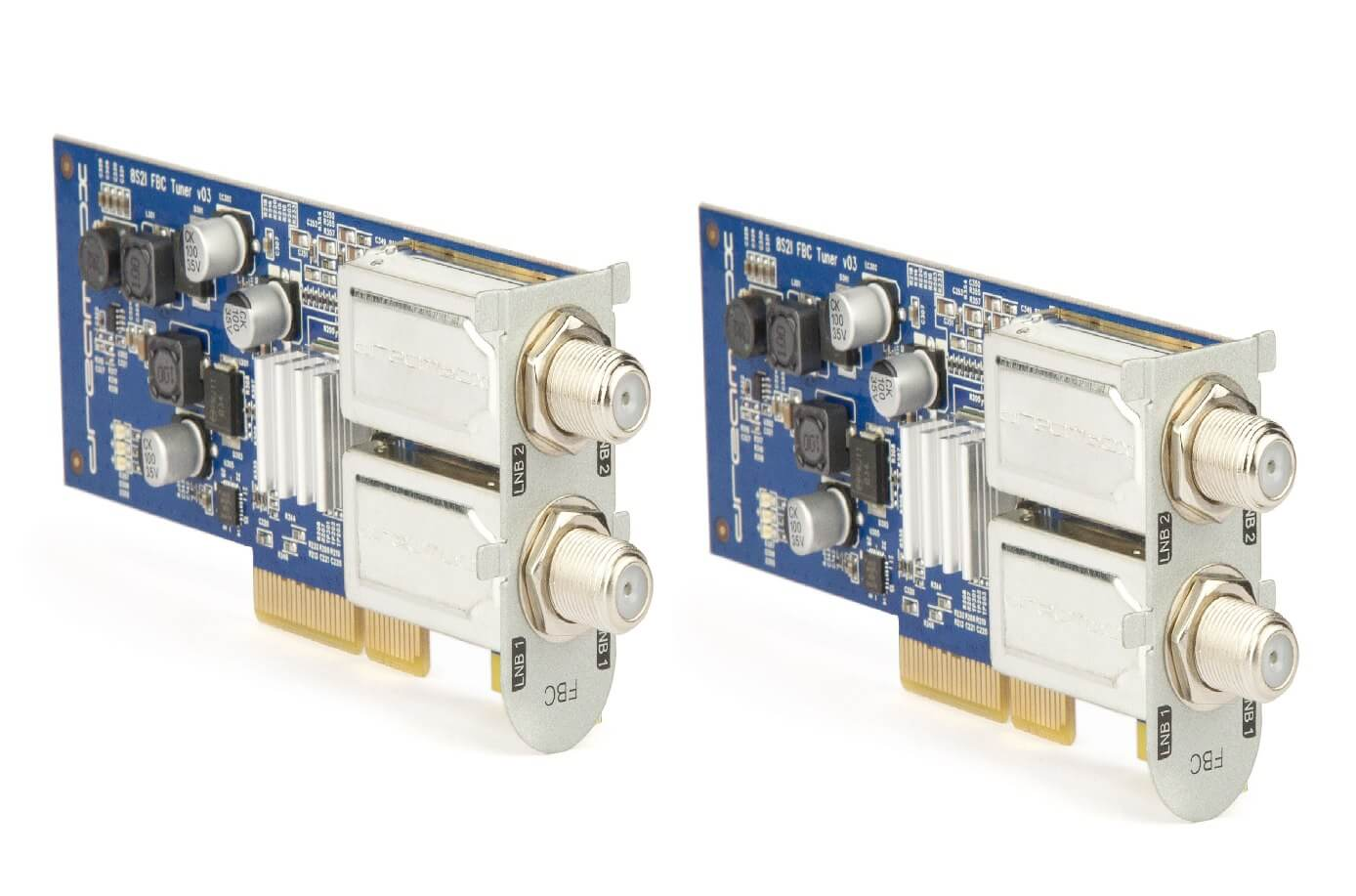 2 x Dual Full bandwidth capture tuners - fast and flexible.