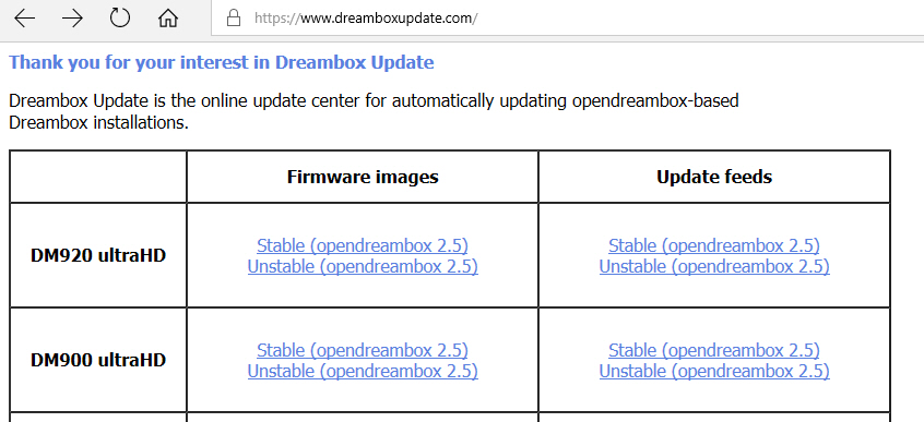 Dreambox 900 og Dreambox 920 images (firmware,software)