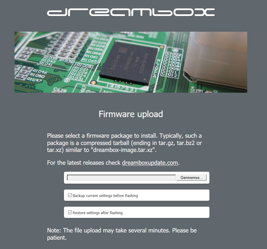 Firmware for Dreambox DM900 920 upload