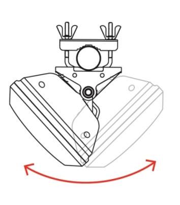 Efter fastspænding kan antennen finjusteres til optimalt signal. Brug evt. en signalstyrkemåler.