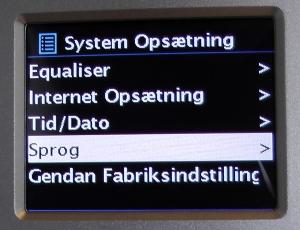 Digitalradio med CD - PTEC Pilatus - information i frontdisplay på dansk
