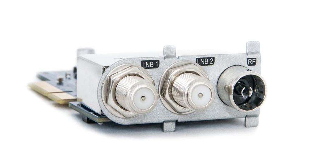 Tripl hybrid tuner med indgang til 2 x SAT/parabol TV og 1 x Antenne Tv eller Kabel TV