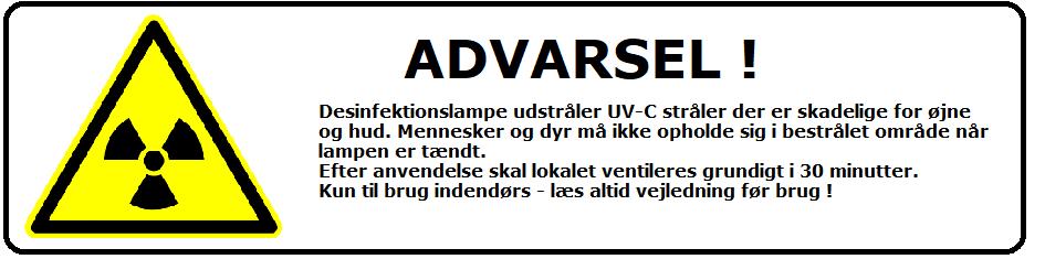 UV-C  Desinfektion med UV lys