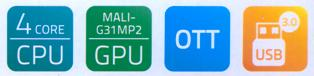 dreamTV box - Android stream box 4 core Mali GPU OTT USB 3